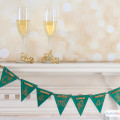 Are you planning a New Year's Eve party to ring in 2016? Why not set up a bubbly bar featuring a selection of champagne and sparkling wine. Make your own champagne party banner to decorate the bar. #sponsored #decoartprojects