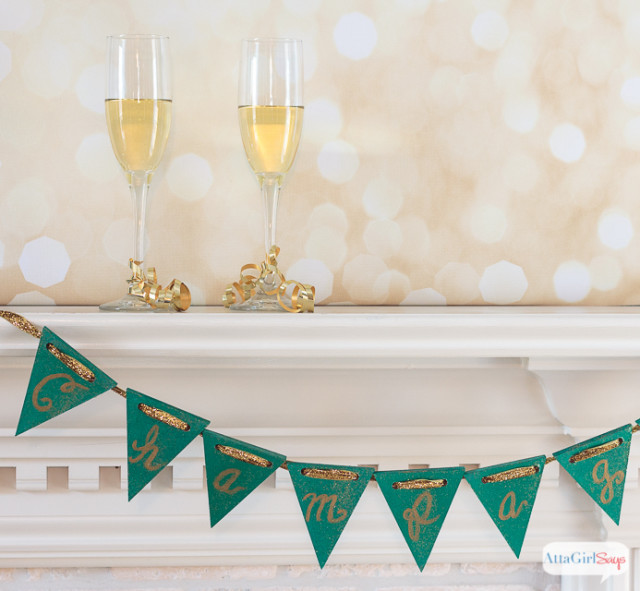 New Year's Eve Party Champagne Banner