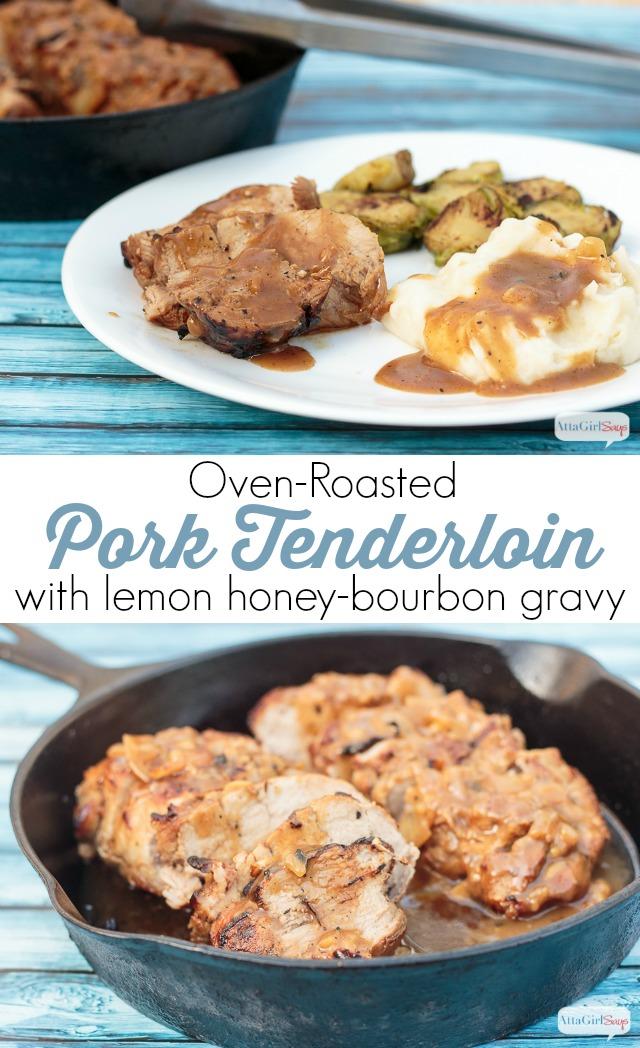 pork tenderloin recipe with a delicious citrus honey-bourbon gravy ...