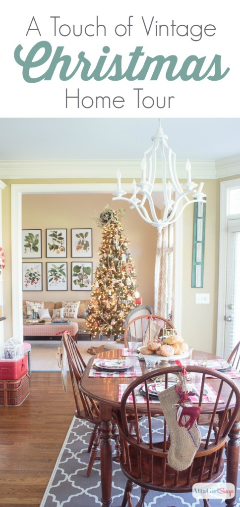 If you like vintage style and color, you'll love this vintage Christmas home tour at AttaGirlSays.com. Room after room of inspiration, featuring fabulous vintage finds mixed with modern details. You'll love all the gorgeous fabrics, and the way the homeowners use pattern and color. And if you're crushing on gold, you don't want to miss the living room in this house!