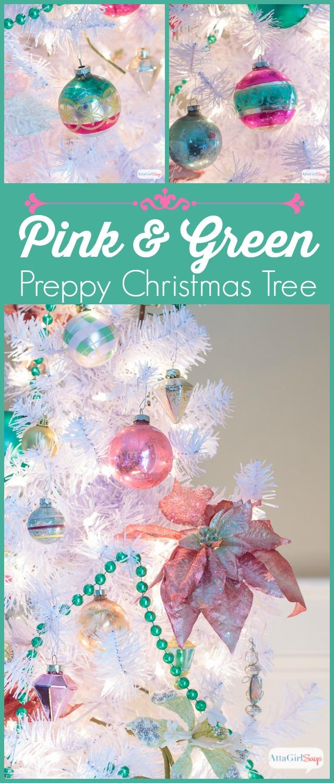 Pinnable White Christmas Tree Preppy