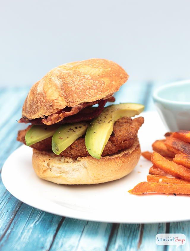 Spicy Avocado Bacon Ranch Chicken Sandwich Recipe