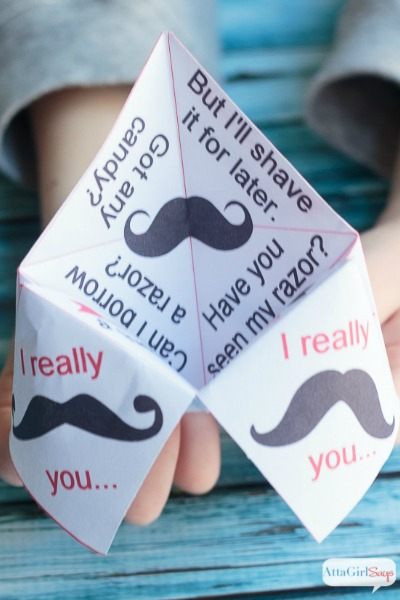 Printable Paper Fortune Teller Valentines