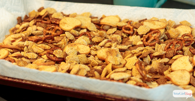 Homemade Snack Mix is one of our favorite Game Day Traditions