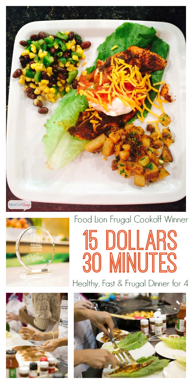 Cheap easy meals with the food lion frugal cookoff atta girl says the food lion frugal cookoff is all about teaching busy families how to prepare healthy and forumfinder Choice Image