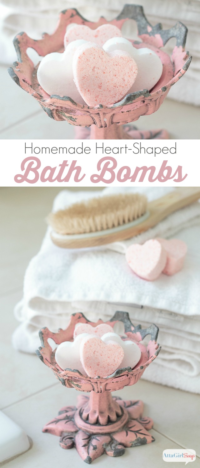 Homemade Bath Bombs for Valentine's Day