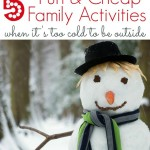 What do you do when it's too cold outside to play? Check out these 5 fun, inexpensive wintertime indoor activities for kids. #HappyFamilyMoments #ad