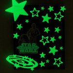 Star Wars fans will love making this glow in the dark artwork featuring their favorite characters from The Force Awakens. #BigGCereal #TheForceAwakens