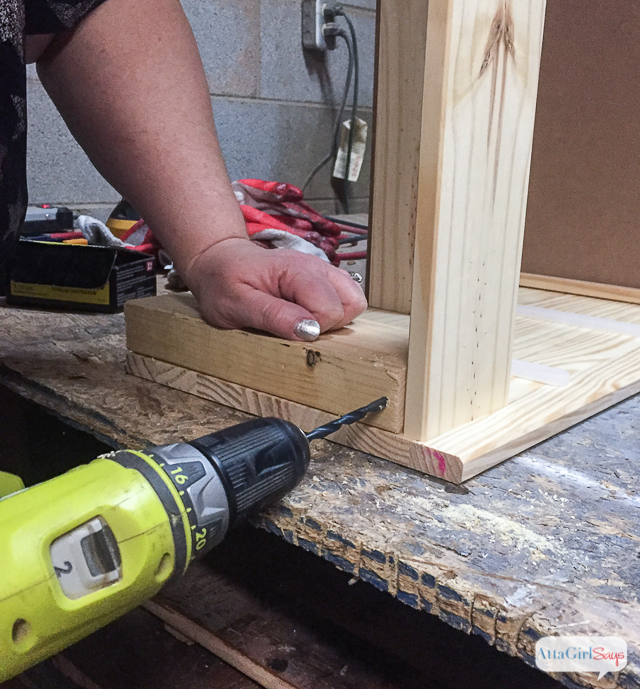 Here's a simple way to add feet to your IKEA RAST hack. Just add a 2X4 to the base and attach the feet to it. #hickoryhardware #sponsored #ikeahack