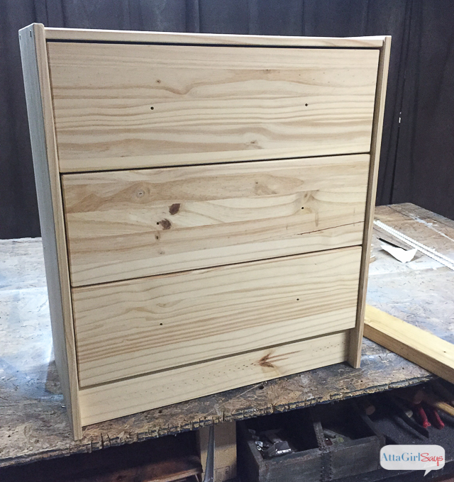 Stay tuned for another easy Ikea Rast hack transformation. With just a few simple additions and a fresh paint color, you can transform this plain piece into high-end furniture on a budget. #hicktoryhardware #sponsored #ikeahack