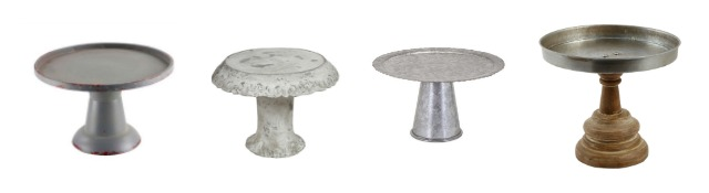These rustic cake stands are great for serving, parties and for decorating. Learn where to buy them, plus see more of pretty cake stands at AttaGirlSays.com.