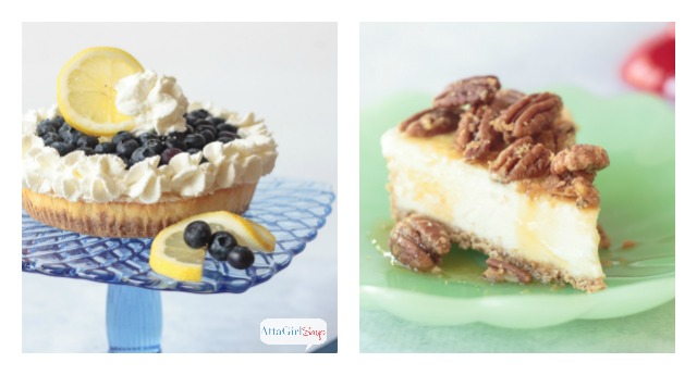 Which is your favorite no-bake cheesecake topping? Blueberry lemon? Or pecan pie? There are so many creative and delicious ways to top a frozen cheesecake. #ad #saraleedesserts #pmedia