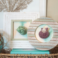 Easy DIY Seashell Artwork