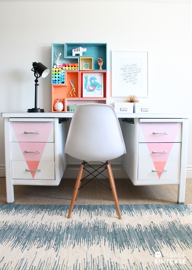 Desk Makeover from My Sister's Suitcase
