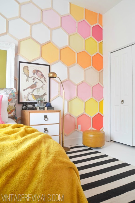 Honeycomb Feature Wall from Vintage Revivals