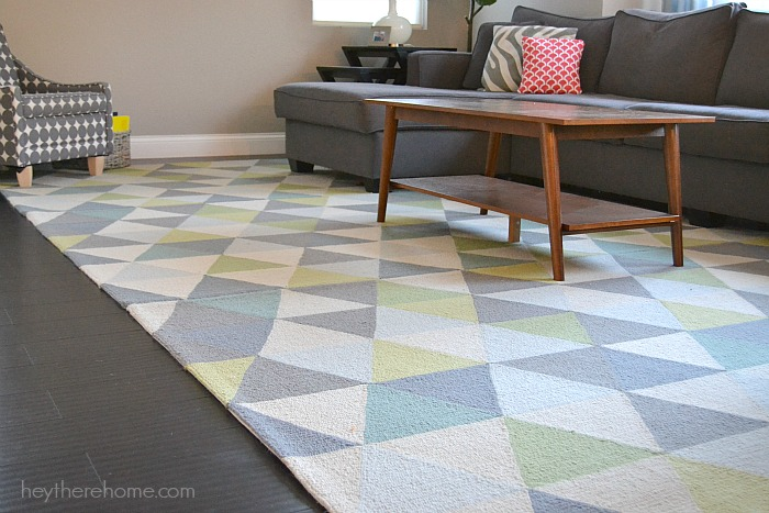 Affordable Geometric Area Rug from Hey There, Home