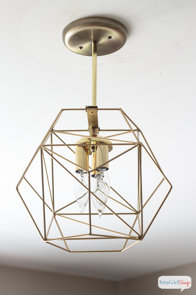 Diy geometric globe pendant light atta girl says you could spend hundreds of dollars on a geometric globe pendant light or you could aloadofball Choice Image