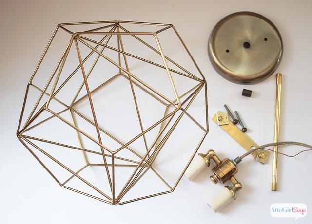 Diy geometric globe pendant light atta girl says you could spend hundreds of dollars on a geometric globe pendant light or you could mozeypictures Image collections