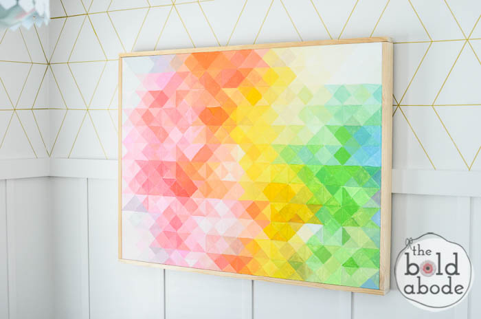 DIY Pixel Artwork from The Bold Abode