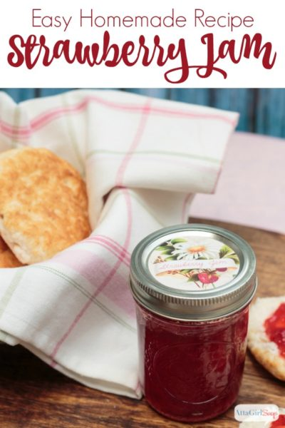 Easy Strawberry Jam Recipe & Canning Jar Labels