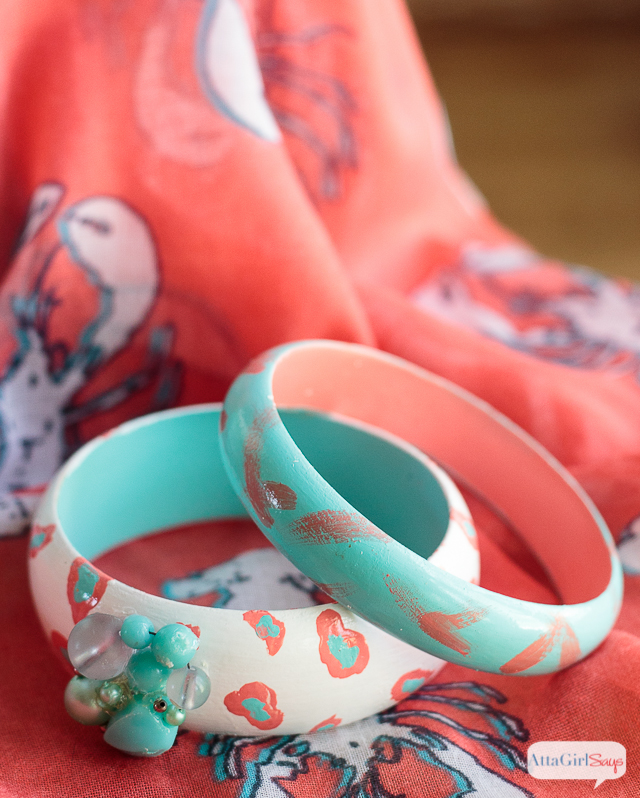 DIY Painted Wooden Bangle Bracelets
