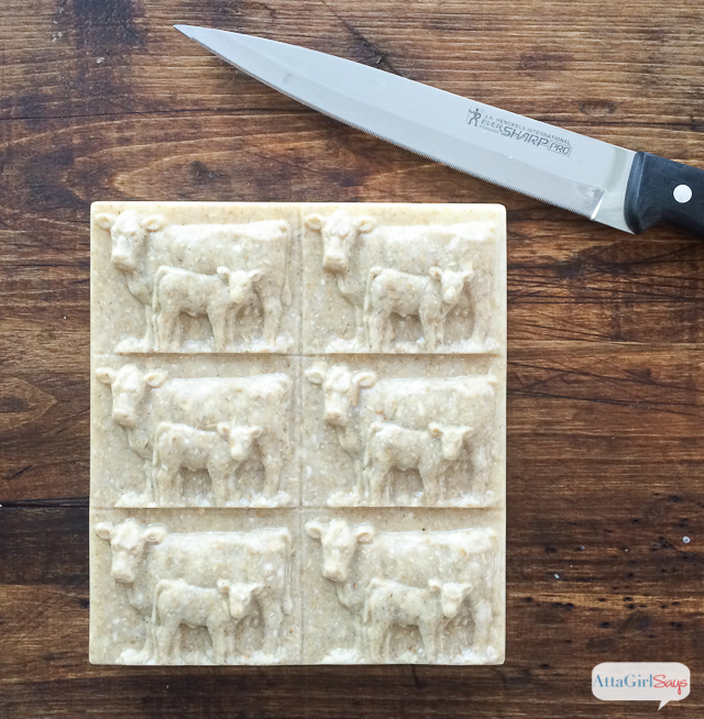 Learn how to make melt-and-pour homemade oatmeal soap. This recipe includes step-by-step instructions for making eight layered bars of natural, exfoliating soap.