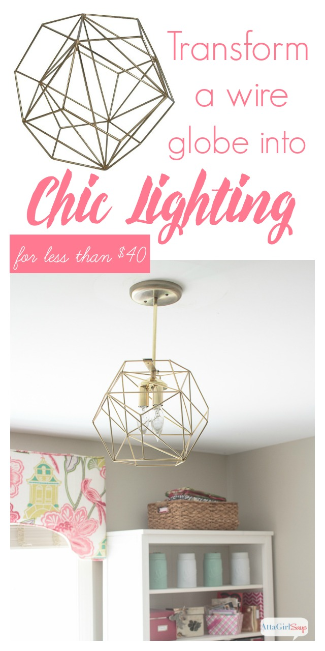 Diy Geometric Globe Pendant Light Atta Girl Says Wiring Diagram Two You Could Spend Hundreds Of Dollars On A Or
