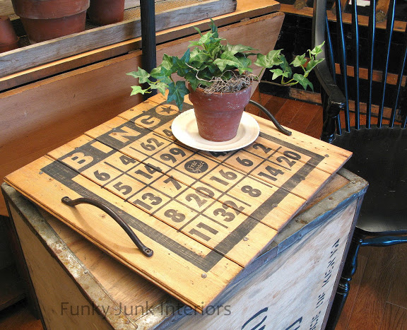 DIY Bingo Board Tray