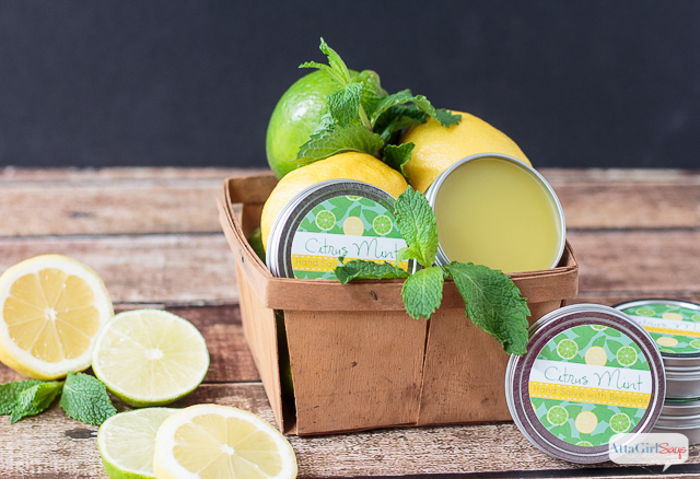 DIY Citrus Mint Hand Salve for Dry Skin