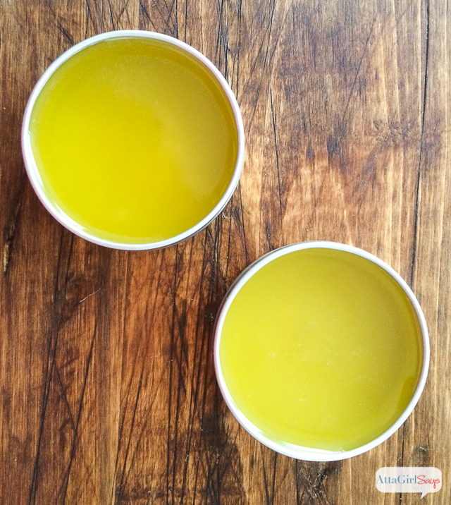 Learn how to make homemade citrus-mint hand salve. This stuff smells amazing, and it's great for dry skin. I love to keep a jar of it in my nightstand, and I also carry a travel-sized tin in my purse. It's so much more moisturizing than regular lotion.