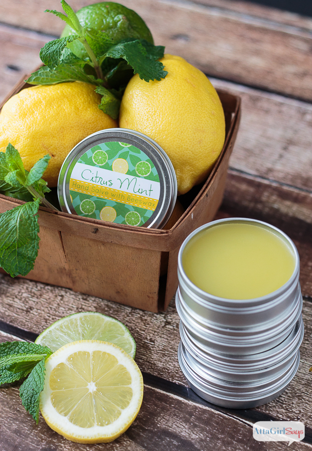 citrus mint homemade hand salve