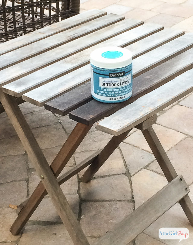 Give Wooden Outdoor Patio Furniture A Makeover With Paint! I Love How The  Turquoise Paint Part 36