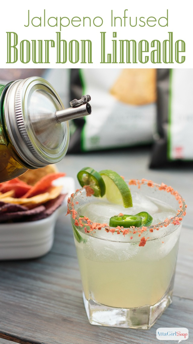 This limeade recipe definitely has a kick thanks to the addition of jalapeno-infused bourbon. #sponsored #foodshouldtastegood