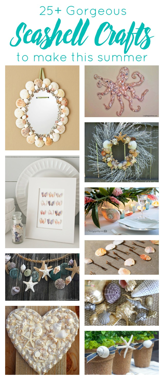 25 gorgeous seashell crafts to make this summer atta for Beautiful home decor items