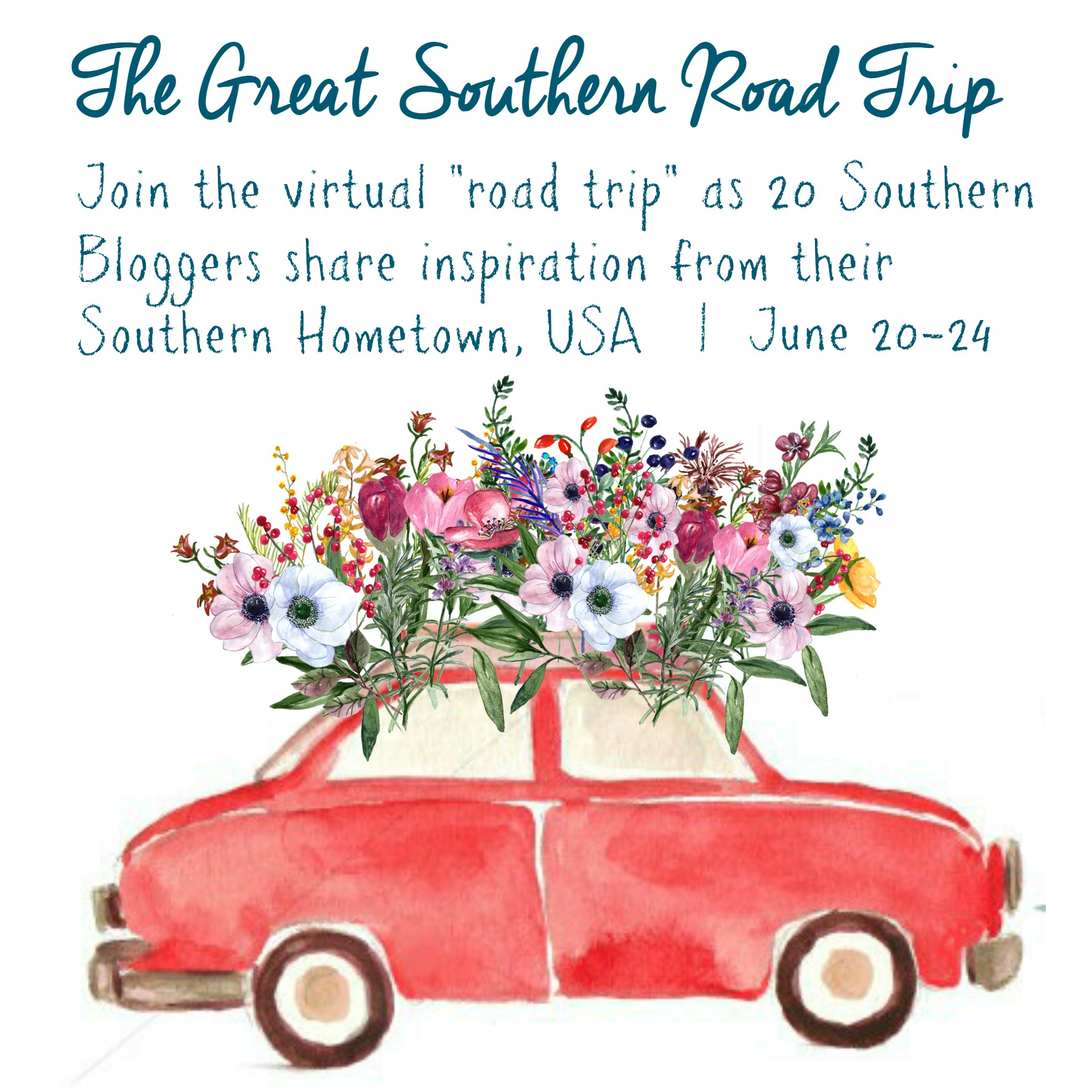 Join your favorite bloggers for The Great Southern Road Trip, a celebration of our southern hometowns. We'll take you on a tour of the crafts, recipes, sights, people and traditions that make our hometowns unique. #greatsouthernroadtrip