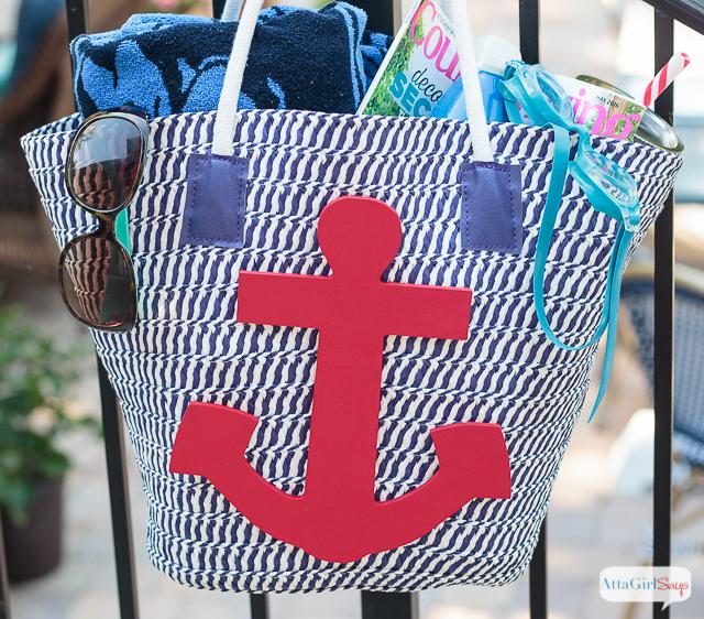 Nautical Beach Tote Bag
