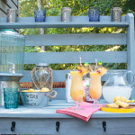 Inspired by a $2,000 Pottery Barn hutch and server, we built this outdoor buffet table for around $150. A project like this is easier than you think. We are beginners, and this is our first building project!