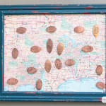 Skip the junky, overpriced kids' vacation souvenirs and start a pressed penny collection. Kids will enjoy making and collecting the pennies on your family travels, and they can showcase their collection in this DIY map shadowbox.