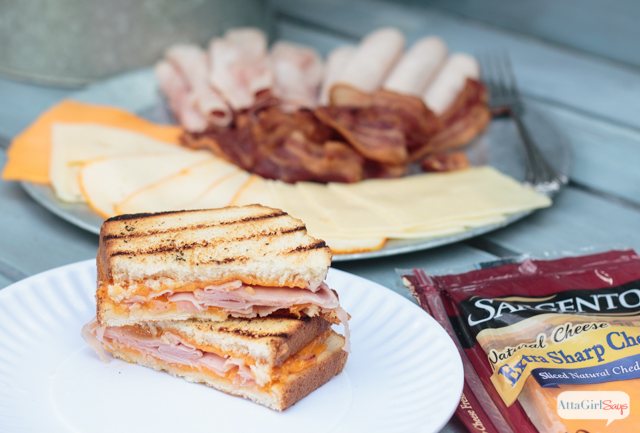 Switch up the menu at your next summertime cookout with these delicious grilled sandwich recipes. Serve up a selection of deli meats, Sargento® Sliced Cheese, grilled vegetables and bread for a sandwich that is out of this world! #ad