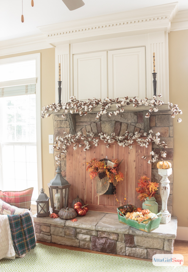 Cedar planked diy fireplace screen atta girl says for How to decorate