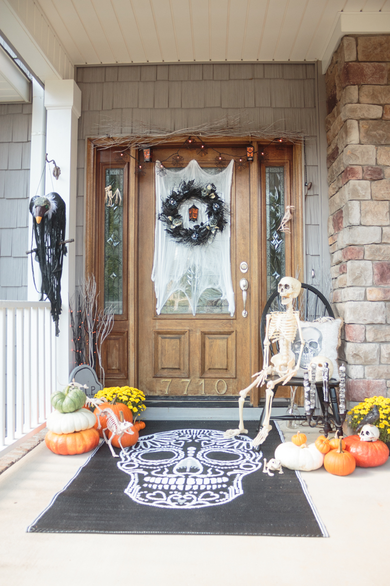 Haunted Halloween Boneyard Front Porch from Atta Girl Says
