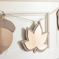 Oversized Metallic Fall Leaf Garland