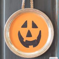 Painted Jack-O-Lantern Tray