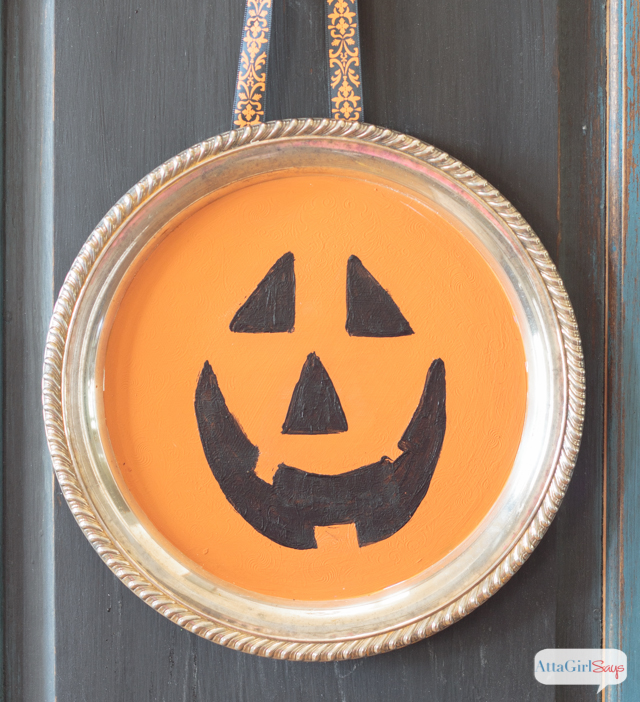 Painted Jack-O-Lantern Tray