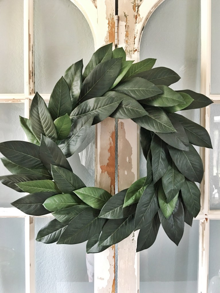 DIY Magnolia Wreath