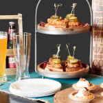 """Set out a tasty spread of classic southern dishes, including Nashville Hot Chicken and Sweet Potato Waffle Bites, mini pecan pies bourbon Cheerwine soda cocktail, to watch """"The CMA Awards."""" #CMAAwards50 #worldmarkettribe #ad"""