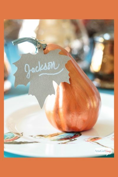 Painted Gourd Thanksgiving Place Cards