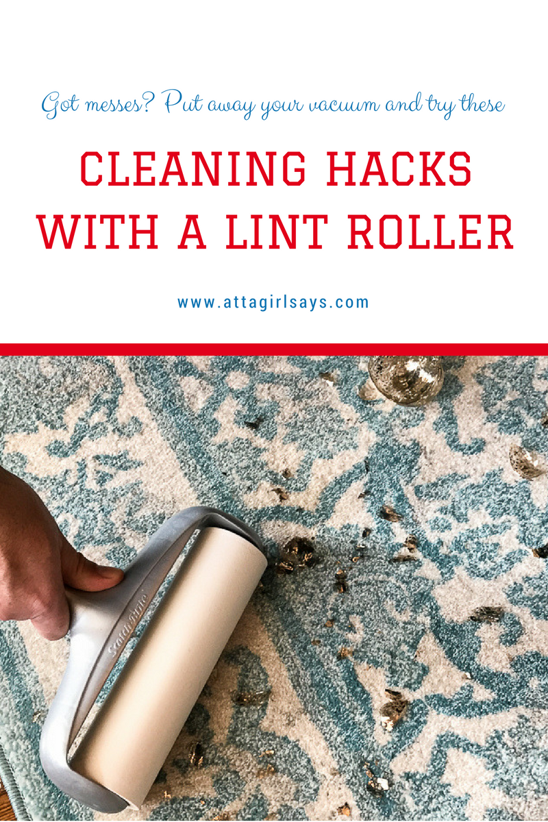 lint rollers are great for cleaning up pet hair glitter and small messes on fabric