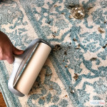 Lint rollers are great for cleaning up pet hair, glitter and small messes on fabric, carpet and upholstery. Put away the vacuum and check out these cleaning hacks using a lint roller. #ad #RollAwayLint