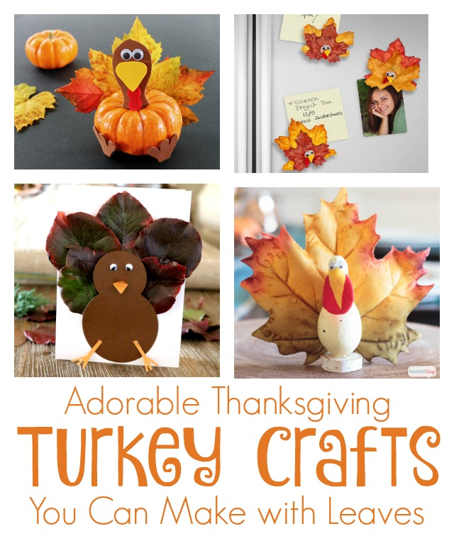 Thanksgiving Turkey Crafts To Make With Leaves